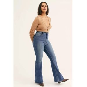 Free People CRVY Robyn High-Rise Flare Jean